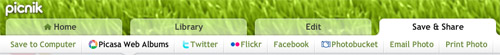 picnik UI - light navigation bar